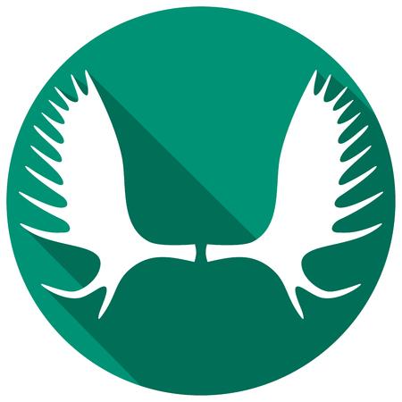 bocinas: cuernos de alce icono plana (cuernos de alce)