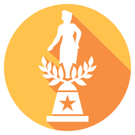 statuette: movie award flat icon