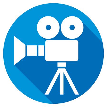 retro cinema: retro cinema flat icon Illustration