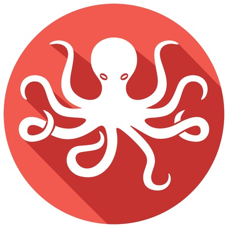 tentacles: octopus flat icon (octopus and tentacles)