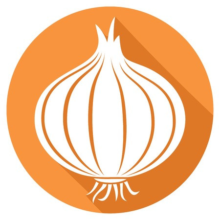 onion flat icon Vetores