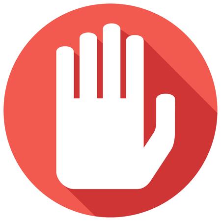 annular: stop sign flat icon Illustration