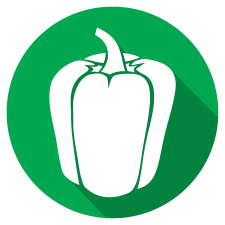 pimento: sweet bell pepper flat icon