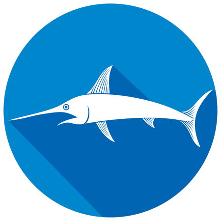 marline: sword fish flat icon