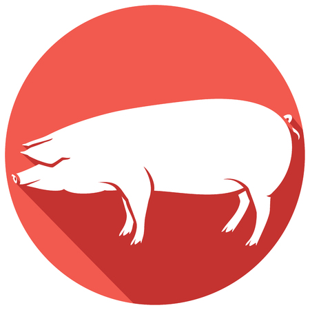 sniff: pig flat icon