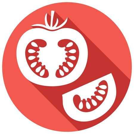 tomato slice: tomato flat icon (tomato slice)