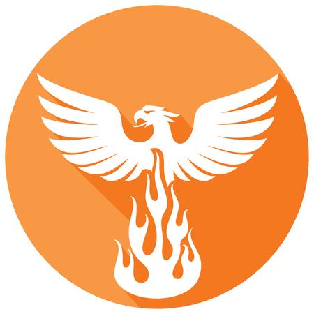 フェニックス鳥フラット アイコン
