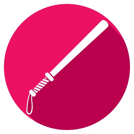 baton: police bat flat icon (police baton flat icon) Illustration