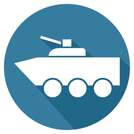 road warrior: fighting vehicle flat icon