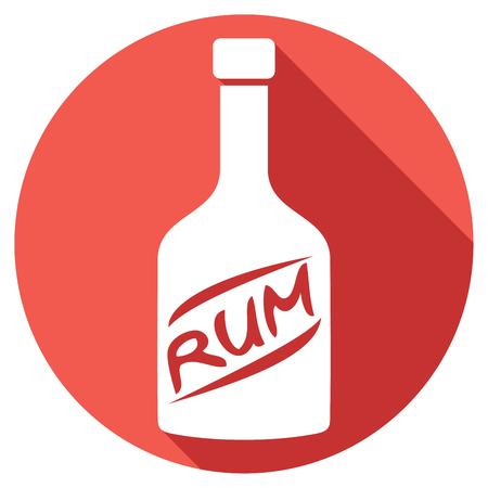 rum: bottle of rum flat icon Illustration