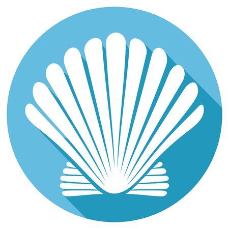 shell: seashell flat icon (sea shell)