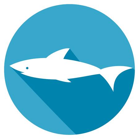murderer: shark flat icon