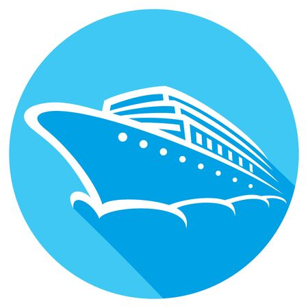 ocean liner: cruise ship flat icon (ocean liner icon)