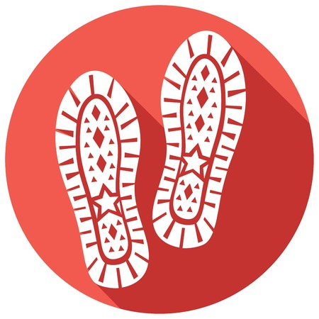 imprint: sole shoe imprint flat icon (sole print, trail foot, shoe print, shoe silhouette) Illustration