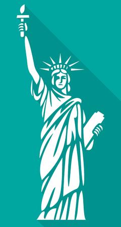 Freiheitsstatue flach Symbol Vektorgrafik