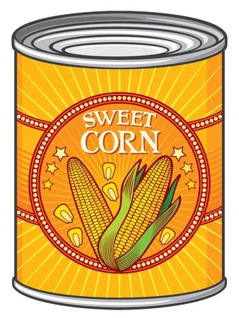 hermetic: tin of sweet corn (can of sweet corn)