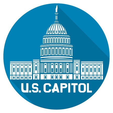 us congress: United States Capitol flat icon (Capitol hill, U. S. Capitol dome)