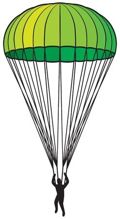 para: parachute icon Illustration