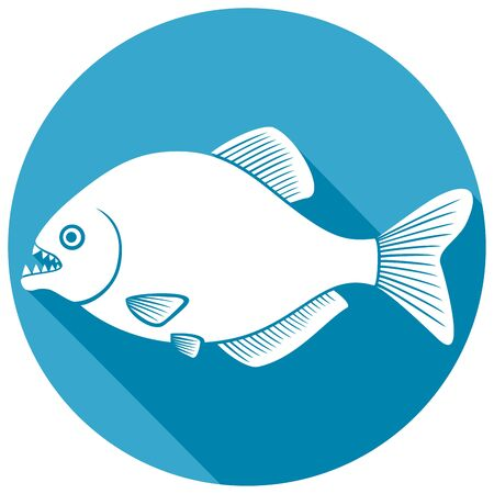 terrify: piranha fish flat icon