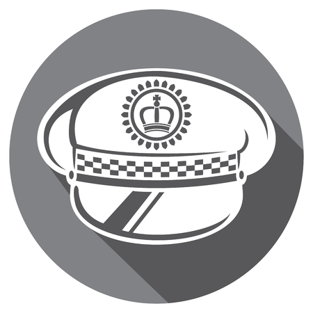 federal police: police hat flat icon