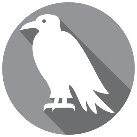 corvus: raven flat icon Illustration
