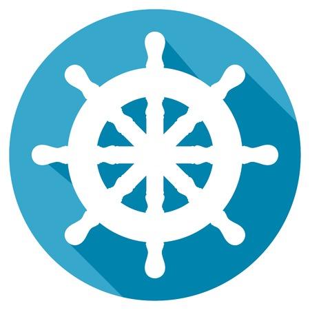 Steuerruder: Ruder flach Symbol
