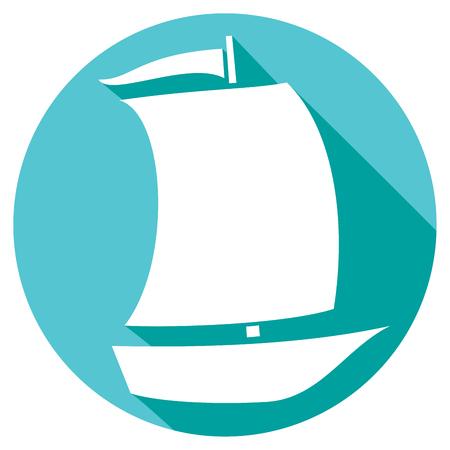hull: sailboat flat icon