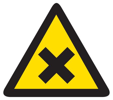 delimitation: warning x sign