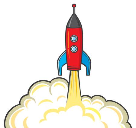 stabilizer: space rocket - startup concept Illustration