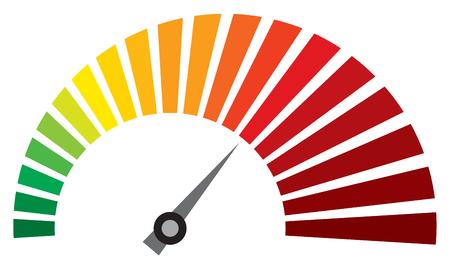 wektor prędkościomierz (deska rozdzielcza prędkościomierz ikony) Ilustracje wektorowe