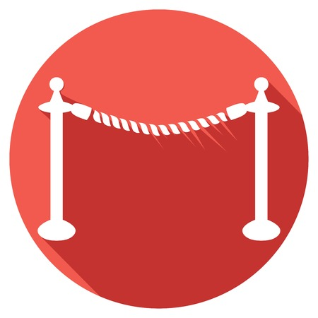 barrier rope: rope barrier flat icon