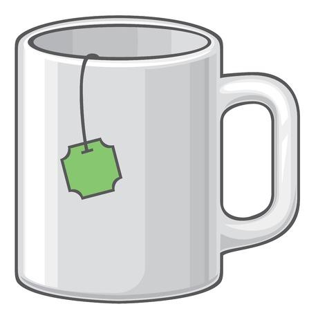 the hot: hot mug with tea Illustration