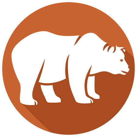 kodiak: wild bear flat icon (grizzly bear)