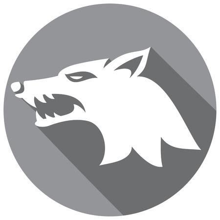 Vektor-Illustration von Wolf Gesicht flach Symbol (Wolfskopf)