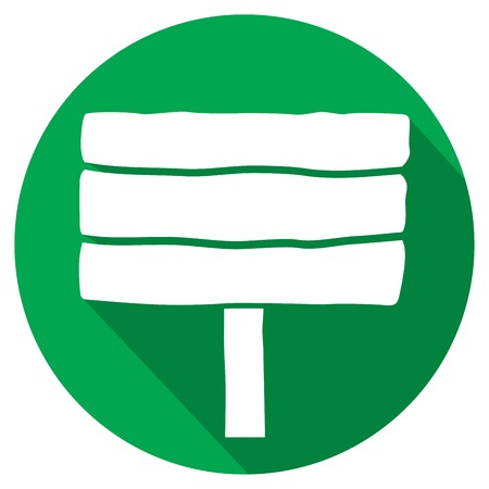 rent index: wooden signboard flat icon