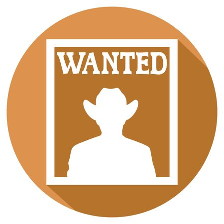 wanted poster: old wanted poster flat icon Illustration