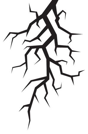 crevice: crack vector illustration Illustration