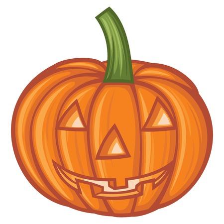 angry vegetable: Pumpkin for Halloween vector illustration Illustration