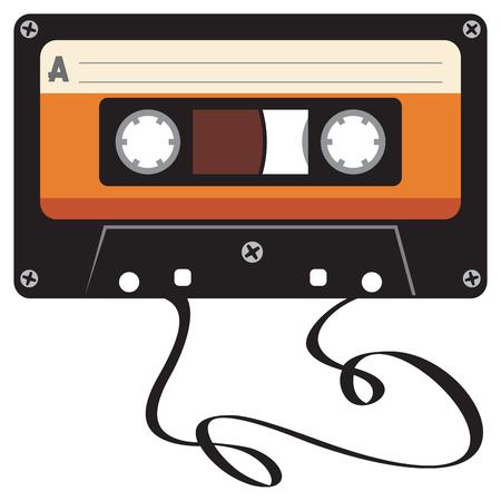 damaged audio cassette tape