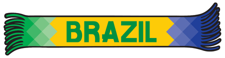 janeiro: Flag of Brazil colors - sport fans scarf design