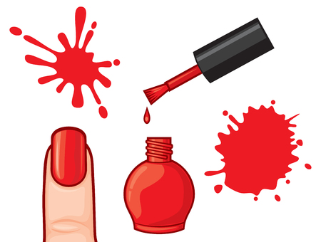 nail polish and blots vector illustration Illustration