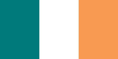 irish pride: Flag of Ireland (official colors)