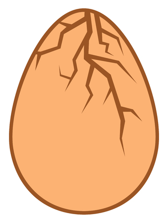raw egg: cracked egg vector illustration Illustration