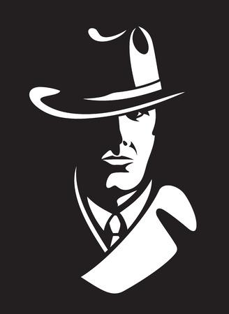 private detective vector illustration Vettoriali