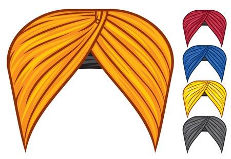 turban headdress vector set