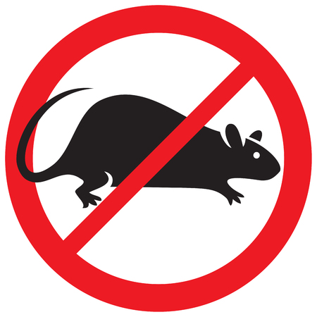 exterminate: no rats symbol sign Illustration
