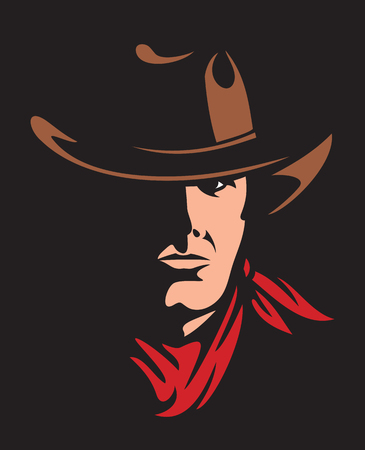 rustler: american cowboy vector illustration