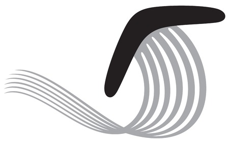 come back: boomerang icon Illustration