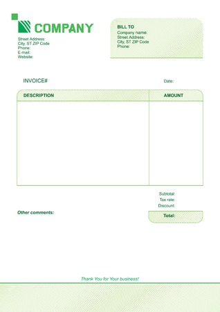 receivable: invoice template design