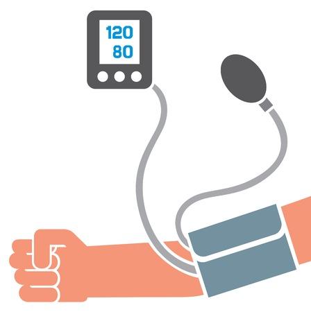 diastolic: blood pressure measuring (hypertension concept) Illustration